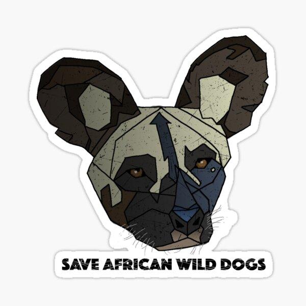 Afrikanischer Wildhund Sticker
