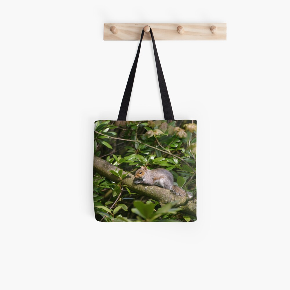 Squirrel on a Branch Tote Bag