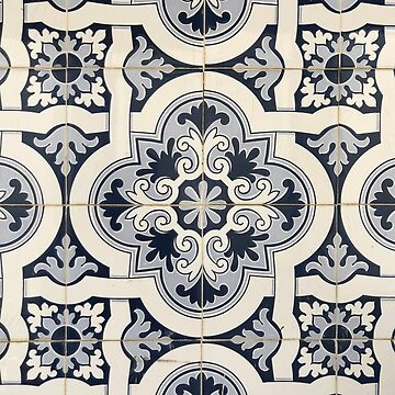Dark Blue/Black Portuguese Tiles Azulejos  by samby