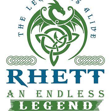 Legend T-shirt - Legend Shirt - Legend Tee - RHETT An Endless Legend by wantneedlove
