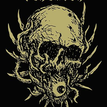 Behemoth Brutal Death Skull Heavy Metal Rock Music, Satanic Shirt, Satan Occult, Death Metal, Metal Head, Rock Band, Hard Rock, Heavy Metal by kraftd