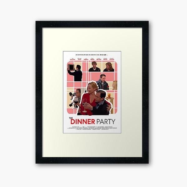 The Office Dinner Party Poster Framed Art Print