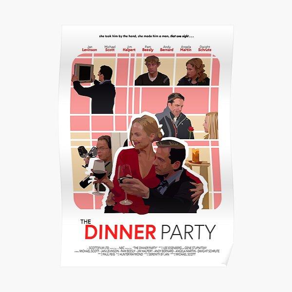 El cartel de la cena de la oficina Póster