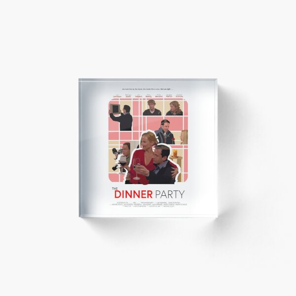 The Office Dinner Party Poster Acrylic Block