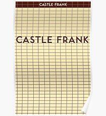 CASTLE FRANK Subway Station Poster
