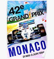 MONACO; Jahrgang Grand Prix Auto Print Poster