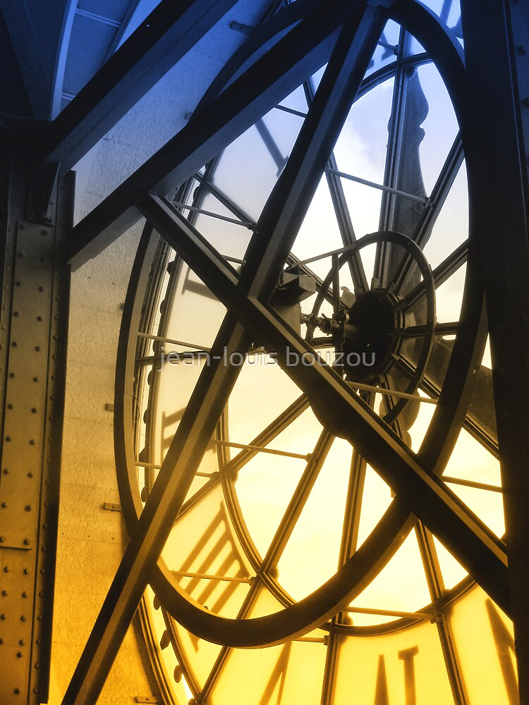 Paris - Behind The Orsay Museum Clock by jean-louis bouzou