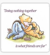 Doing nothing together Sticker