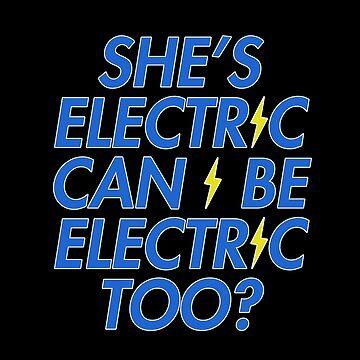 She's Electric - Lightening Bolt by DesignedByOli
