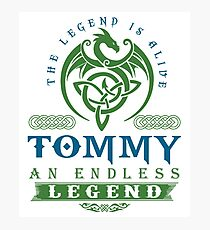 Legend T-shirt - Legend Shirt - Legend Tee - TOMMY An Endless Legend Photographic Print