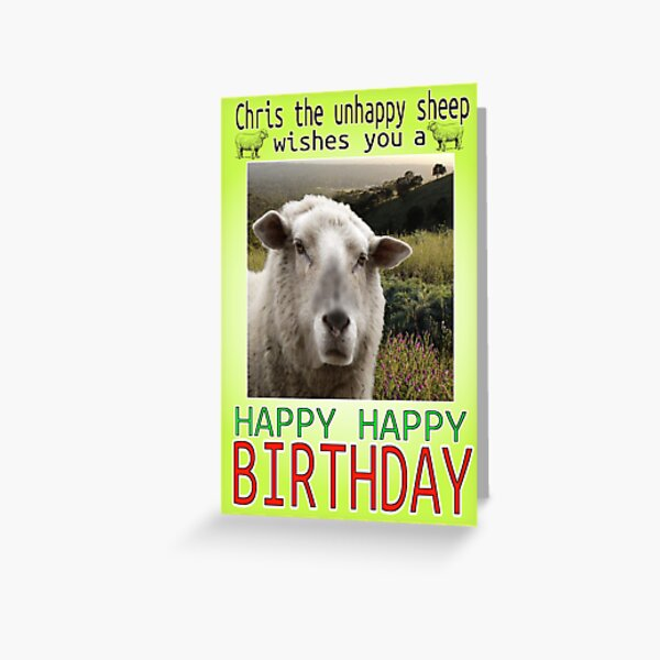 Chris Unhappy Birthday Father Ted Greeting Card