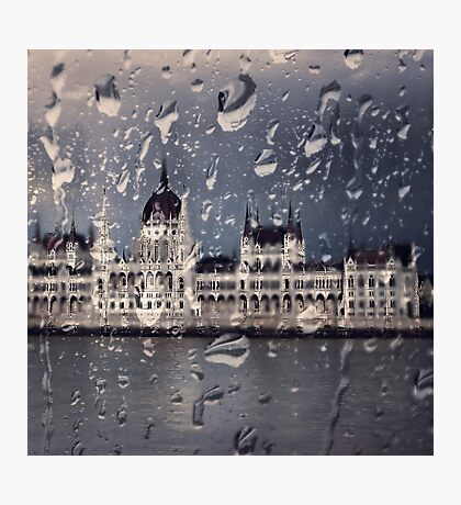 Hungarian Parliament in the Rain Photographic Print