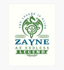Legend T-shirt - Legend Shirt - Legend Tee - ZAYNE An Endless Legend Art Print