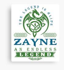 Legend T-shirt - Legend Shirt - Legend Tee - ZAYNE An Endless Legend Canvas Print