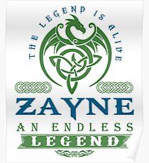 Legend T-shirt - Legend Shirt - Legend Tee - ZAYNE An Endless Legend Poster