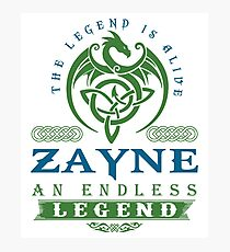 Legend T-shirt - Legend Shirt - Legend Tee - ZAYNE An Endless Legend Photographic Print