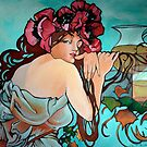 Mucha Summer with Iced Tea by Lori Elaine Campbell