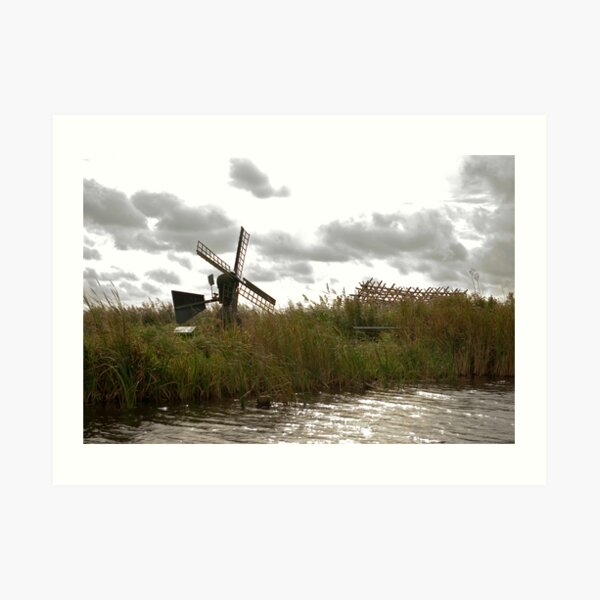 Wind and water mill  Art Print