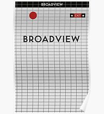 BROADVIEW Subway Station Poster