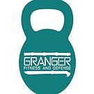 Granger Fitness and Defense Teal KB Logo by John Granger