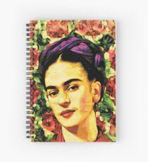 frida kahlo Watercolor Art Spiral Notebook