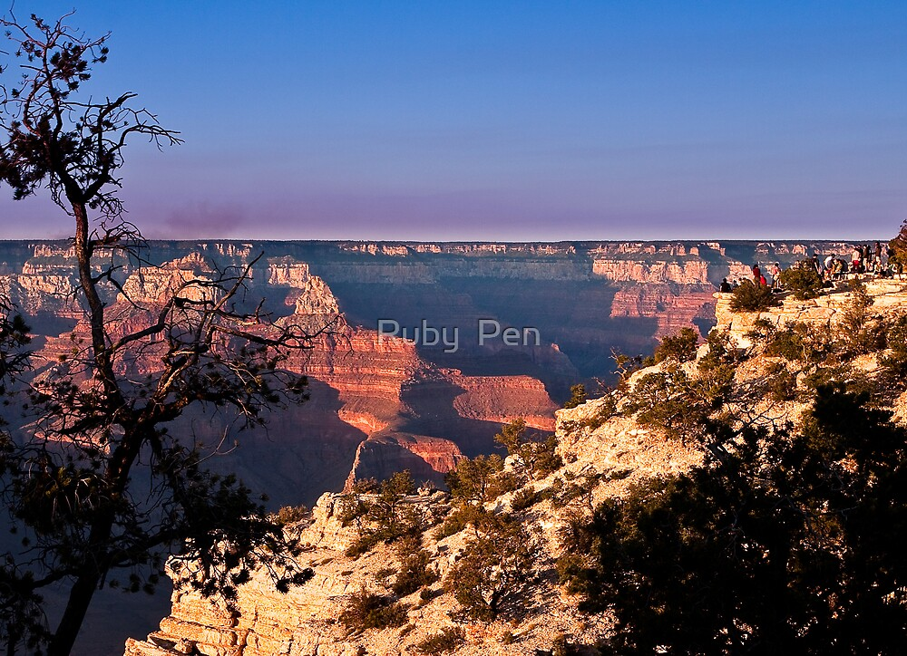Yavapai Point, Grand Canyon by Ruby  Pen