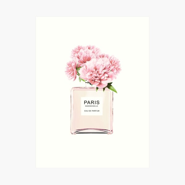 Perfume bottle, Flowers print, Scandinavian, Peony, Fashion print, Scandinavian art, Modern art, Wall art, Print, Minimalistic, Modern Art Print