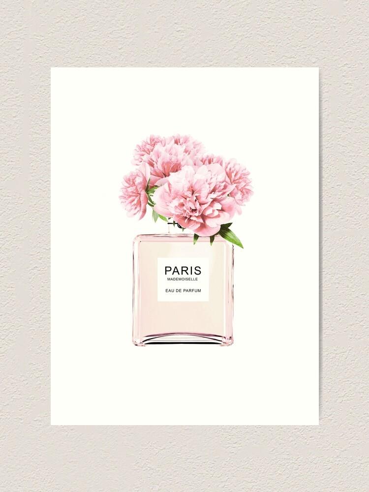 Alternate view of Perfume bottle, Flowers print, Scandinavian, Peony, Fashion print, Scandinavian art, Modern art, Wall art, Print, Minimalistic, Modern Art Print