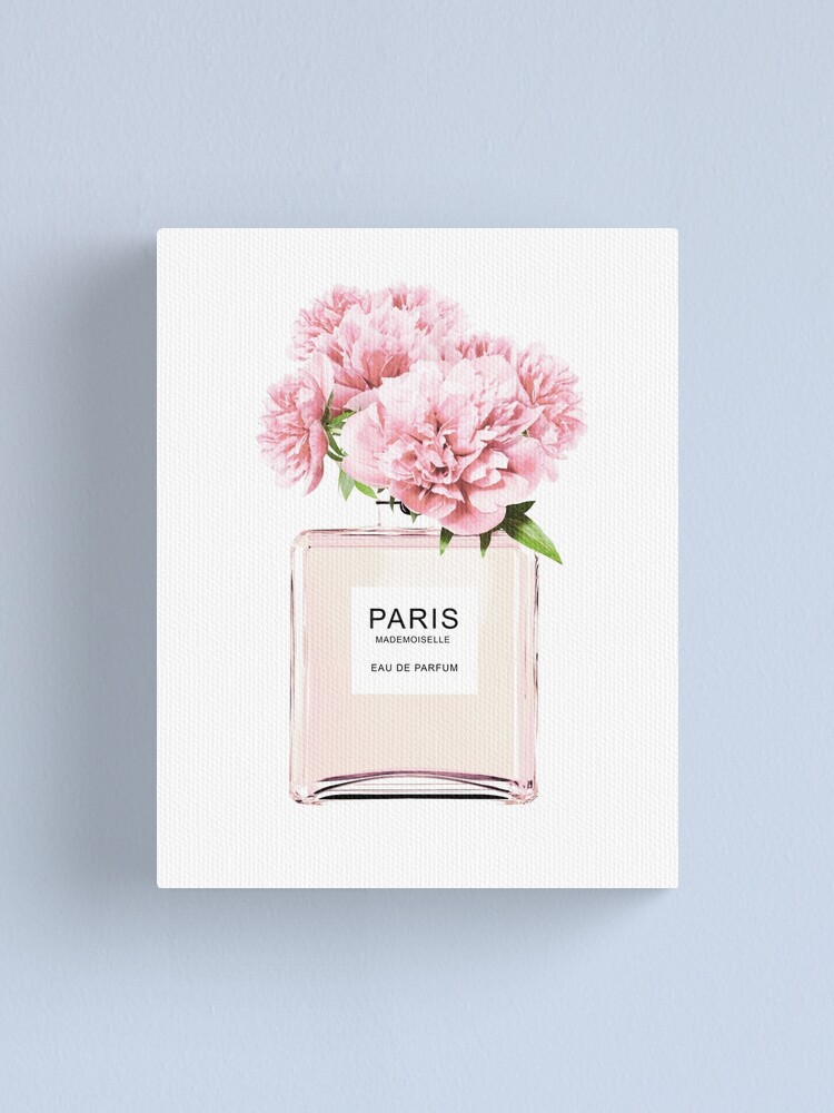 Alternate view of Perfume bottle, Flowers print, Scandinavian, Peony, Fashion print, Scandinavian art, Modern art, Wall art, Print, Minimalistic, Modern Canvas Print