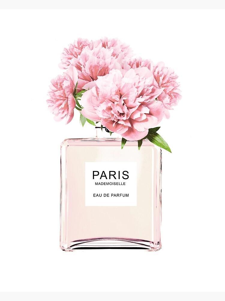 Perfume bottle, Flowers print, Scandinavian, Peony, Fashion print, Scandinavian art, Modern art, Wall art, Print, Minimalistic, Modern by juliaemelian