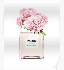 Parfüm-Flasche, Blumen print, Skandinavisch, Pfingstrose, Modedruck, skandinavische Kunst, moderne Kunst, Wandkunst, Print, minimalistisch, Modern Poster