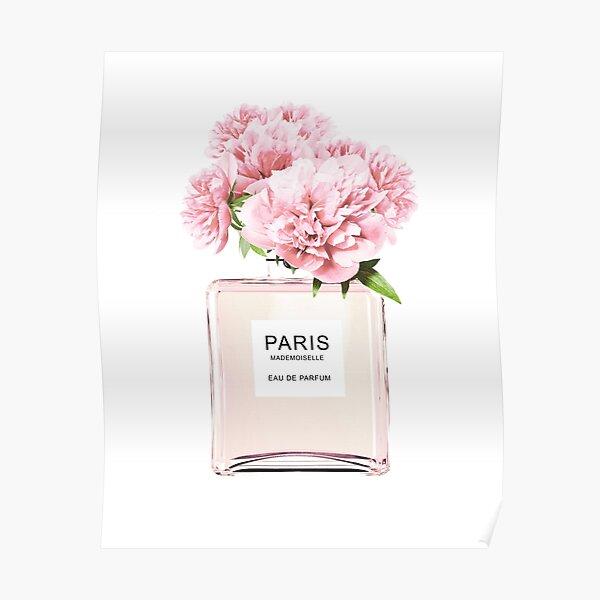 Perfume bottle, Flowers print, Scandinavian, Peony, Fashion print, Scandinavian art, Modern art, Wall art, Print, Minimalistic, Modern Poster