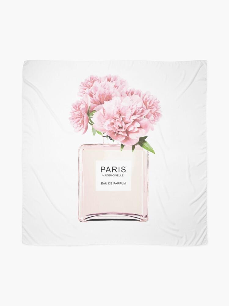 Alternate view of Perfume bottle, Flowers print, Scandinavian, Peony, Fashion print, Scandinavian art, Modern art, Wall art, Print, Minimalistic, Modern Scarf