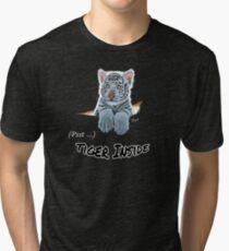 Psst . . . TIGER INSIDE, white tiger cub Tri-blend T-Shirt