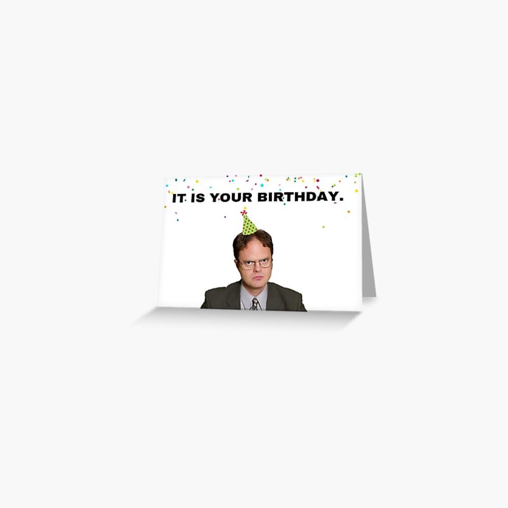 Das Büro, Es ist dein Geburtstag, Dwight Schrute, Geschenke, Geschenke, Ideen Grußkarte