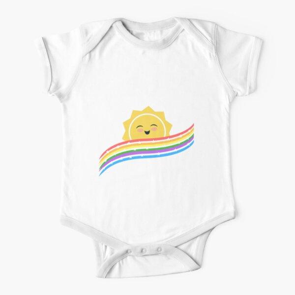 Starry rainbow sunshine Short Sleeve Baby One-Piece