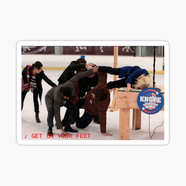 Get On Your Feet- Parks and Recreation Sticker Sticker