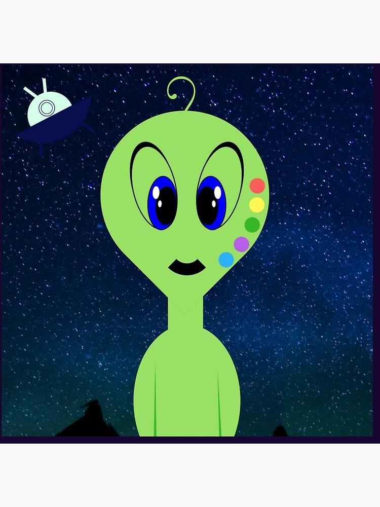 Rainbow Alien by KellyTwinkle