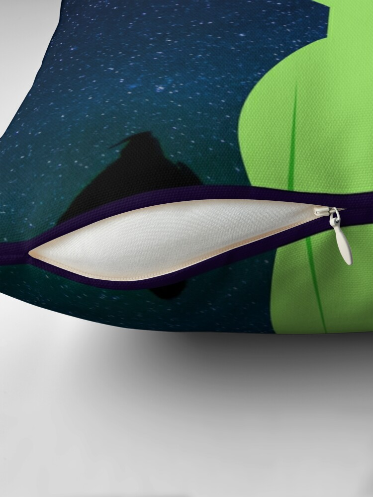 Alternate view of Rainbow Alien Throw Pillow