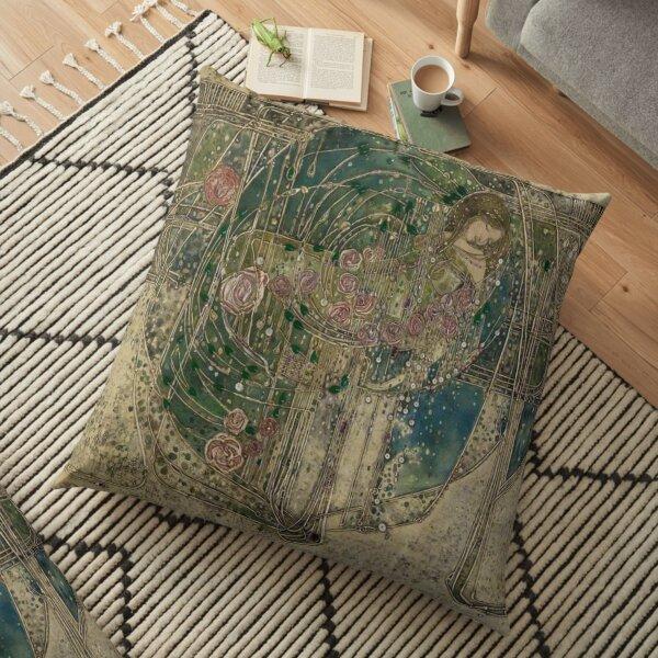 Margaret Macdonald. The Sleeping Princess. Glasgow Style, Glasgow School. Floor Pillow