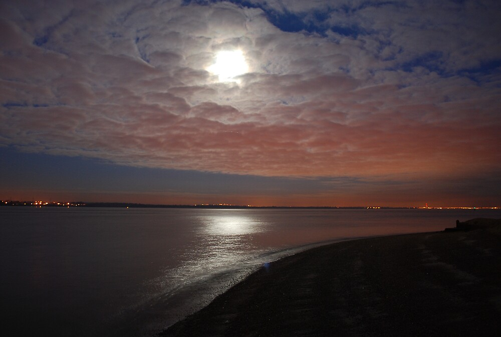 Isle Of Wight Moonlight by Paul Ritchie
