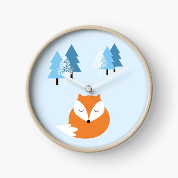 Sweet dreams with fox  Clock