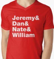 Sunny Day Real Estate Tribute Helvetica List Men's V-Neck T-Shirt