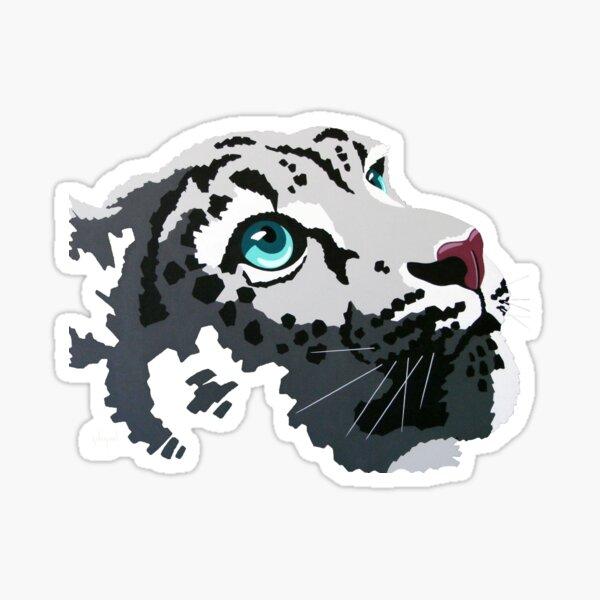 Snow Leopard gazing into the light Sticker
