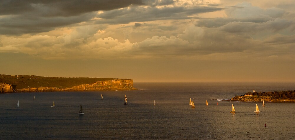 Sunset at the Heads by Robert Brindley