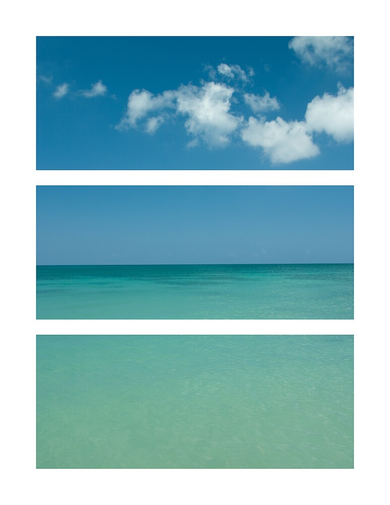 Beach Tryptich by Carlos Restrepo