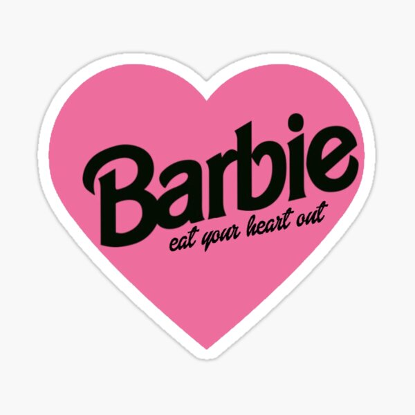 Barbie ... come tu corazón Pegatina