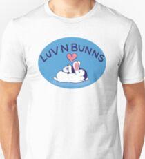 Hippity Hop Love - Blue Bunny Design Unisex T-Shirt