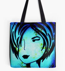 Blue Wallflower  Tote Bag