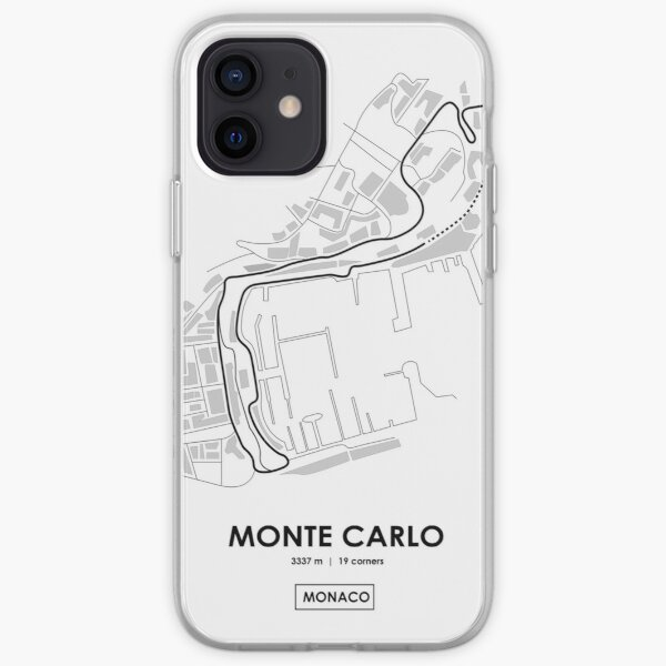 Monte Carlo - Mónaco Track Map Funda blanda para iPhone